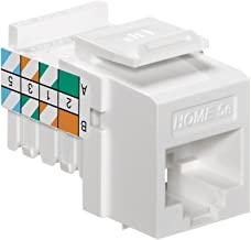 Leviton 5EHOM-RW5 Home 5e Snap-In Connector, T568A/B Wiring, White
