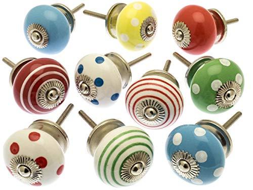 Mezclado Conjunto de Color Brillante Perillas De Armario x Pack 10 (MANGO-98)