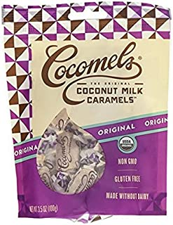 Cocomels Original Coconut Milk Caramels - Organic - Made Without Dairy - Kosher - GMO Free - (pack of 3)