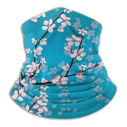 Mathillda Sakura Bloom fleece halswarmer voor de lente, omkeerbaar, voor slangen, veelzijdige oorwarmer
