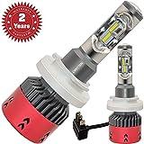 H15 Led Headlight Bulbs 6000K 9600lm 70w Bright White H15 High Low Beam Auto Headlight Conversion Kits Daytime Running Lighting 2 Years Warranty (A Pair)
