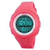SKMEI Digital Sports Watch Women Waterproof EL Backlight PU Band Small Military Wristwatches Girl...