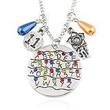 Vercico Strangers Eleven - Collar con colgante de alfabeto para mujer y hombre, colección de joyas de Halloween