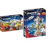 Playmobil Space Estación De Marte, A Partir De 6 Años (9487) , Color/Modelo Surtido + Space 9488 Cohete con Plataforma De Lanzamiento, A Partir De 6 Años