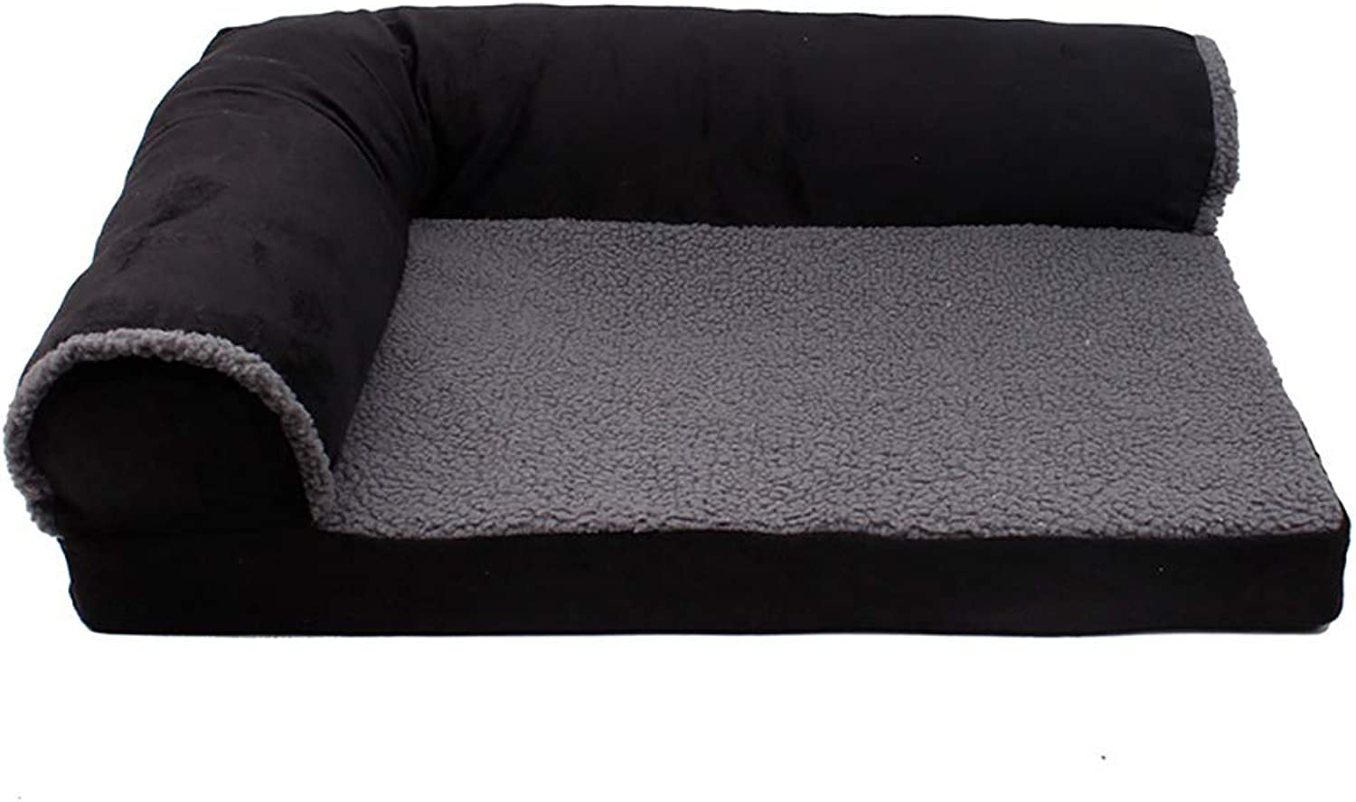 AHDA Pet Supplies, Pet (Cat, Dog) Sofa, Warm in Autumn and Winter, Removable and Washable,Black,80cm60cm