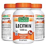 Botanic Choice Lecithin - Adult Daily Supplement - Supports Healthy Cholesterol Levels Already in The Normal Range Keeps The Brain Liver and Kidneys in Top Condition for Overall Wellness