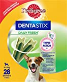 Pedigree, Snack per cani, Tratta per cani Dentastix Daily Fresh Dental Care, 4 x (4 x 7 stick / 110 g), 1,76 kg
