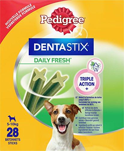 Pedigree, Snack per cani, Tratta per cani Dentastix Daily Fresh Dental Care, 4 x (4 x 7 stick / 110 g), 1,76 kg