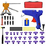 SILIVN 50Pcs Paintless Dent Removal Kit Repair Remover Tools - Car Dent Puller Kit Easy to Use for Small Dent Door Ding Hail Repair