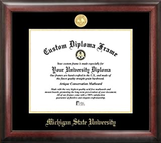 Campus Images Michigan State Spartans Gold Embossed Diploma Frame