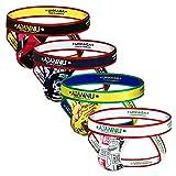 ADANNU Men's Jockstrap Athletic Supporters Micro Fiber Pouch 4-Pack Cartoon Jock Strap Athletic Underwear (X-Large33.5''-36''/85cm-91cm)