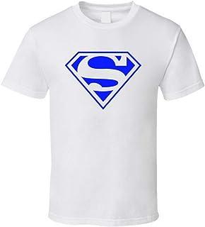 Camiseta clásica con logotipo azul de Superman de Dc Comics