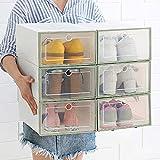 DALUXE Nueva Cajón De Plástico Transparente para El Calzado De Diseño con Doble De Originales Placa Válvula Almacenamiento del Zapato Zapatos Artefactos Portaherramientas,Verde