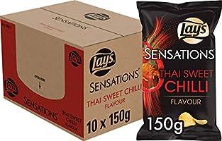 Lay's Sensations Chips Thai Sweet Chilli, Doos 10 stuks x 150 g
