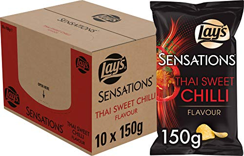 Lay's Sensations Chips Thai Sweet Chili, Schachtel 10 Stück x 150 g