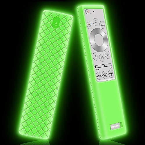 Funda de Silicona para Mando Samsung BN59-01311G BN59-01311B BN59-01265A BN59-01358B Antideslizante Carcasa de Protectora Compatible con Mando TV Samsung (Glow Green)