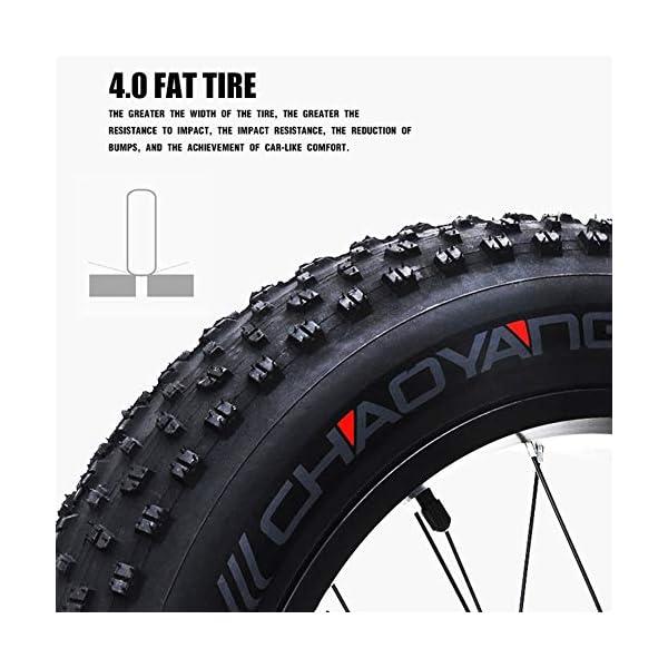 51lEJls6+xL. SS600  - GUNAI 500W Elektrofahrräder,20 Zoll Faltbare Mountain Snow E-Bike Rennrad mit Scheibenbremsen 7 Geschwindigkeit (Schwarz)