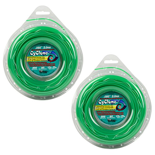 Cyclone CY080D1/2 0.080' x 200' String Trimmer Line, Green - 2 Pack