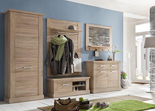 trendteam SYD44045 Garderobenpaneel Eiche hell Nachbildung, BxHxT 100 x 148 x 27 cm - 3