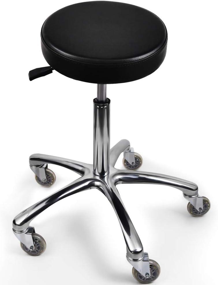 Popular overseas Adjustable Stool and Black Round Spa Choice Chair Salon Stool. or