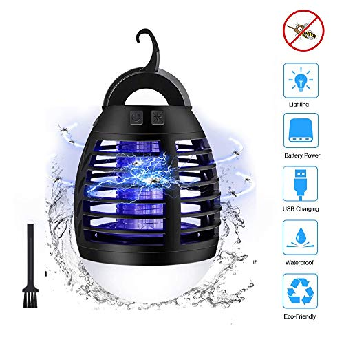 Himdeck Insect Killer, Electric 2-in-1 Mosquito Killer Upgrade 2020 Fly Killer Against Mosquito lamp Protection IP66 Waterproof Mosquito Killer, Camping Lantern, Indoor Outdoor with Retractable Hook