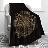 Jekeno Sea Turtle Blanket Cartoon Smooth Soft Tortoise Floral Print Throw Blanket for Sofa Chair Bed Office Gift 50'x60'