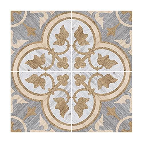 Ancoree Clover Flooring Tile Sticker for Bathroom Kitchen Floor Backsplash Bathroom Countertop, Waterproof And Removable Wall Sticker, 1.8mm Super Thick, 30 x 30cm (C,4pcs)