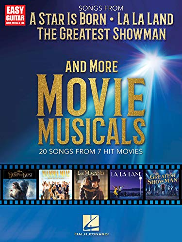 Songs from A Star Is Born, The Greatest Showman, La La Land, and More Movie Musicals (Easy Guitar With Notes & Tab) (English Edition)