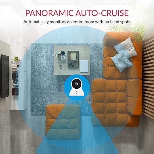 YI Überwachungskamera Dome 1080p Full HD Wlan IP Kamera Indoor Camera mit 345 ° horizontaler und 115 ° vertikaler Drehung, Bewegungserkennung, 2-Wege-Audio, Nachtsicht, Unterstützt Alarm, Weiß