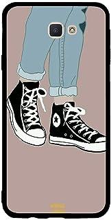 Samsung J7 Prime Case Cover Black and White Canvas Shoes, Moreau Laurent Premium Phone Covers & Cases Design