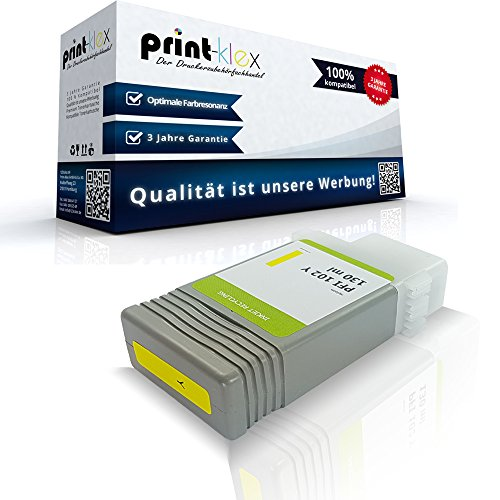 Kompatible Tintenpatrone für Canon imagePROGRAF IPF600 imagePROGRAF IPF605 imagePROGRAF IPF605 L plus imagePROGRAF IPF 610 0898B001 PFI-102Y PFI 102 Y Gelb Yellow - Eco Line Serie