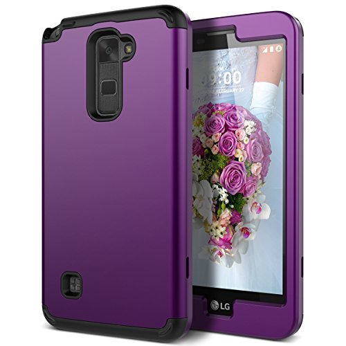 WeLoveCase LG Stylus 2 Case, Heavy Duty Drop Protection Case Shockproof Silicone Bumper + High Impact Hard PC 3 in 1 Hybrid Protective Case Cover for LG Stylus 2 / LG G Stylo 2 (LS775) - Purple
