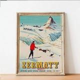 DIARQT Dekorative Gemälde Zermatt Schweiz Matterhorn Print