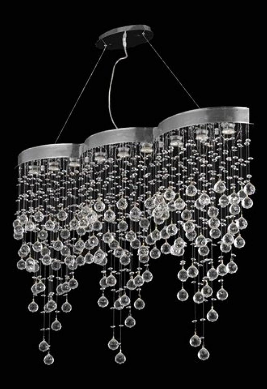 エレガントな照明2025d48?C / SA Galaxyコレクション9-light Hanging器具スワロフスキーSpectraクリスタルのクローム仕上げ