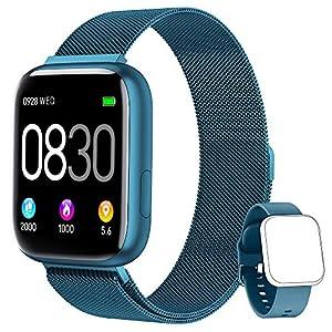 BANLVS Smartwatch, 1.4 Inch Reloj Inteligente IP67 con Pulsómetro Presión Arterial, Monitor de Sueño Podómetro Contador… 12
