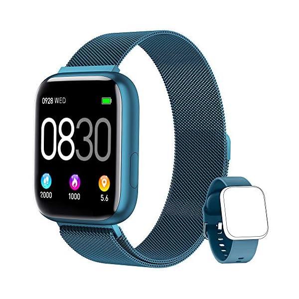 BANLVS Smartwatch, 1.4 Inch Reloj Inteligente IP67 con Pulsómetro Presión Arterial, Monitor de Sueño Podómetro Contador… 1