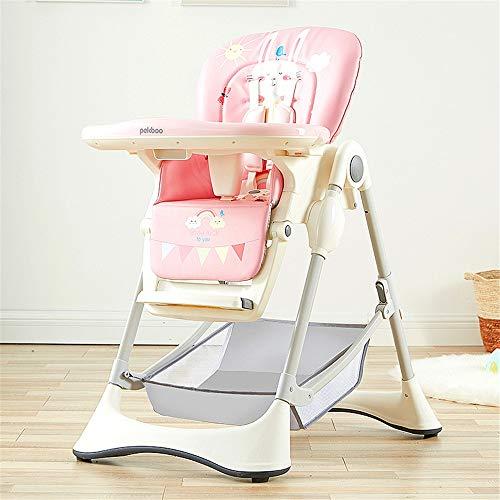 Baby Esstisch Und Stühle Multifunktionaler Klappbarer Esstischstuhl Baby Tragbarer Esstischstuhl Kinder Esstischstuhl (Color : Pink)