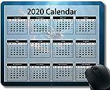 2020 Calendar HD Font Mouse Pad 30 * 25 * 0.3cm Space Astronaut Temáticas con Bordes cosidos para el hogar y la Oficina