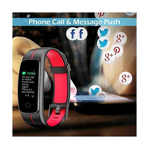 LATEC Pulsera Actividad [Última Versión], Pulsera de Actividad Inteligente Pantalla Color Reloj con Pulsómetro… 5