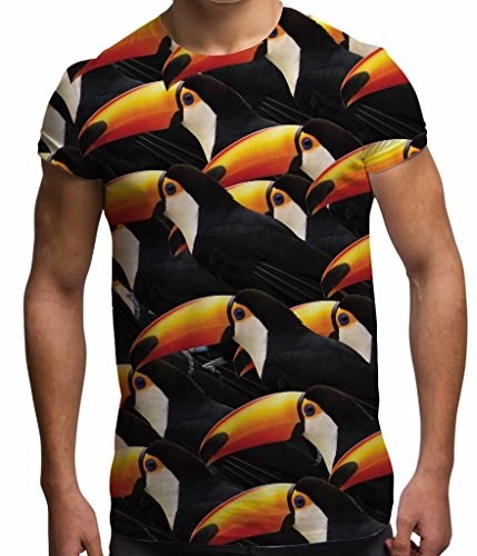 VH859 Toucan Wildlife Birds Amazon Rainforest White-S