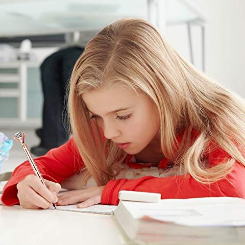 LONGKEY 3PCS Rose Gold With Dot Diamond Pens Large Crystal Diamond Ballpoint Pen Bling Metal Ballpoint Pen Office and School Including 3 Pen Refills … Photo #7
