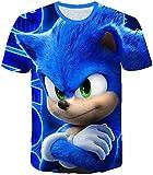 AMCYT Camiseta Sonic The Hedgehog para niños, unisex, diseño con dibujo 3D, Sonic 1, 5 años