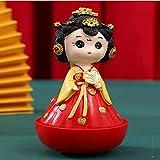 Muñecas de ópera de Pekín en la dinastía Tang Never Sleep City Tumbler Sister Xi'an Recuerdo Hecho a Mano de para niños Regalo de cumpleaños de Halloween de Navidad 4.5 en,Rojo