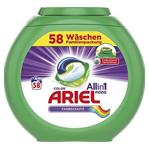 Ariel All-in-1 PODS Color Farbschutz, 58Waschladungen