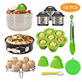 Mini 3 Quart Instant Pot Accessories Set, 3 Qt Green Pressure Cooker Accessory Set with Steamer Basket, Egg Bites Molds, Spring form Pan, Egg Rack, Tong, Oven Mitts, Scrubber, Magnetic Cheat Sheets