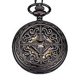 Unendlich U- Vendimia Negro Reloj de Bolsillo...