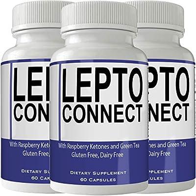 Leptoconnect Diet Pills Supplement (3 Bottle Pack) for Weight Loss Burn Pills Extra Strength Capsules Advanced Weight Loss Supplement Capsules with Garcinia, Raspberry Ketones