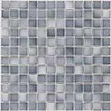 Cerámica Mosaico Azulejos gris jaspeado mate vidriado....