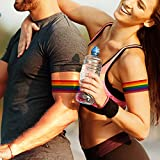 12 Pieces (2 different sizes) Rainbow Armband Tattoos, Rainbow Temporary Tattoos, Waterproof Rainbow Flag Tattoo Stickers for Pride Equality Parades and Celebrations