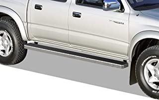 APS iBoard Running Boards (Nerf Bars Side Steps Step Bars) Compatible with 2001-2004 Toyota Tacoma Double Crew Cab Pickup 4-Door (Silver 5 inches)